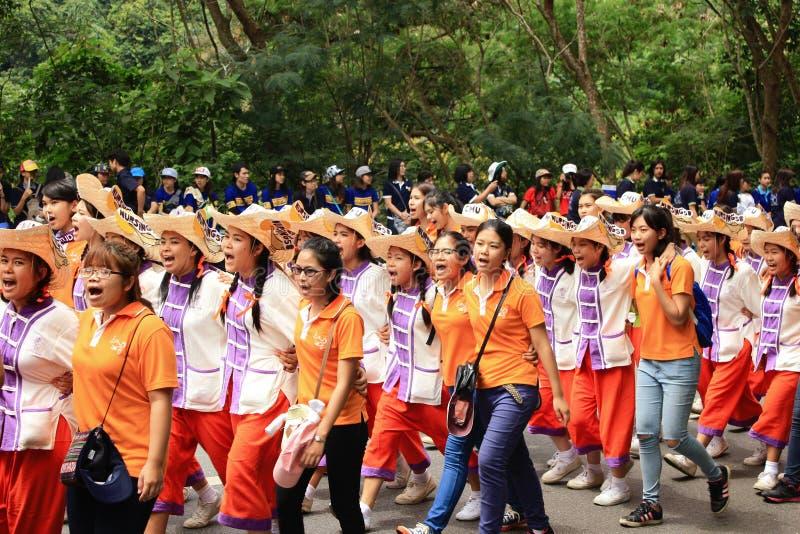 Nowicjusz Powitalna ceremonia Chiang Mai uniwersytet, Tajlandia zdjęcie royalty free