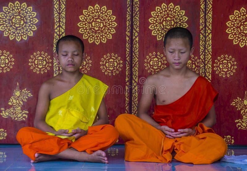 Nowicjusz?w michaelita w Luang Prabang Laos obrazy stock