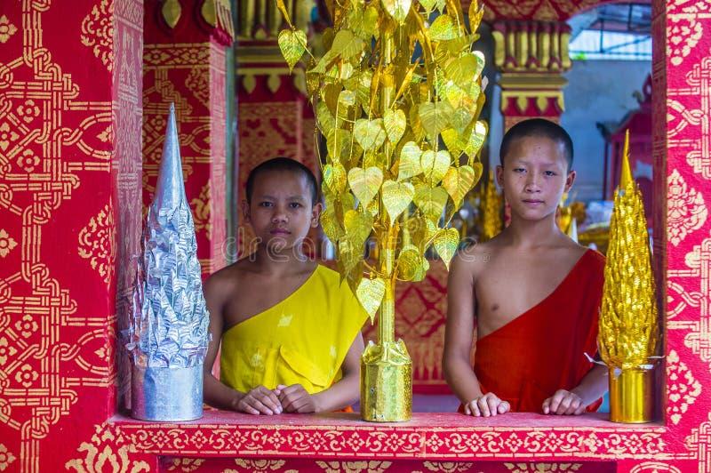 Nowicjusz?w michaelita w Luang Prabang Laos zdjęcie stock