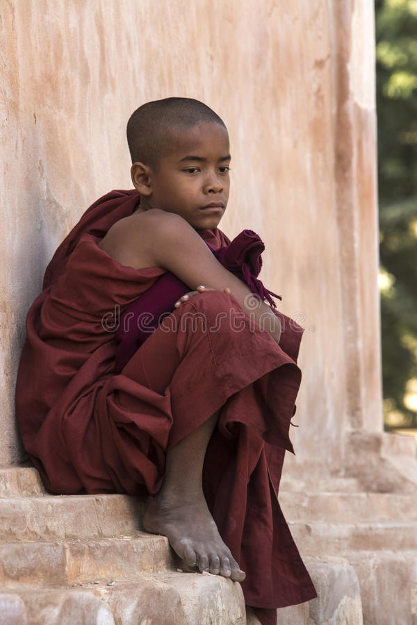 Nowicjusza michaelita Bagan, Myanmar - zdjęcie royalty free