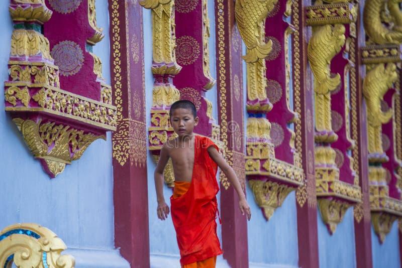 Nowicjusza michaelita w Luang Prabang Laos zdjęcie stock
