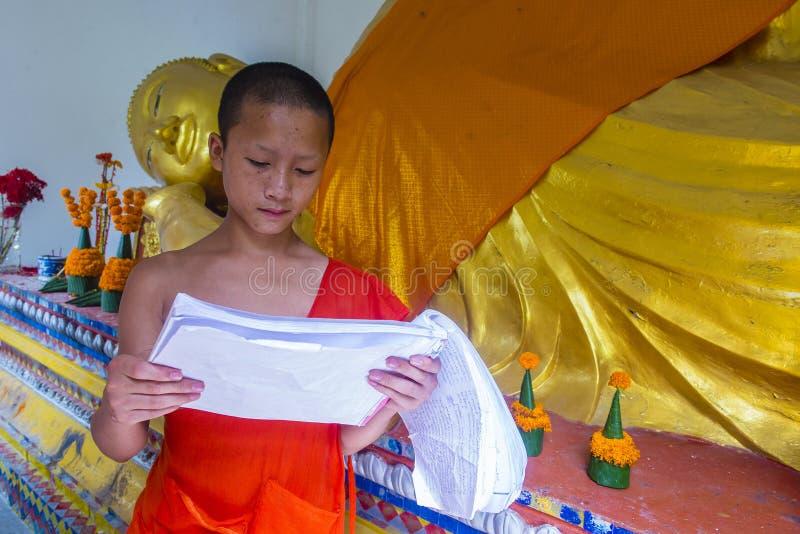 Nowicjusza michaelita w Luang Prabang Laos zdjęcie royalty free