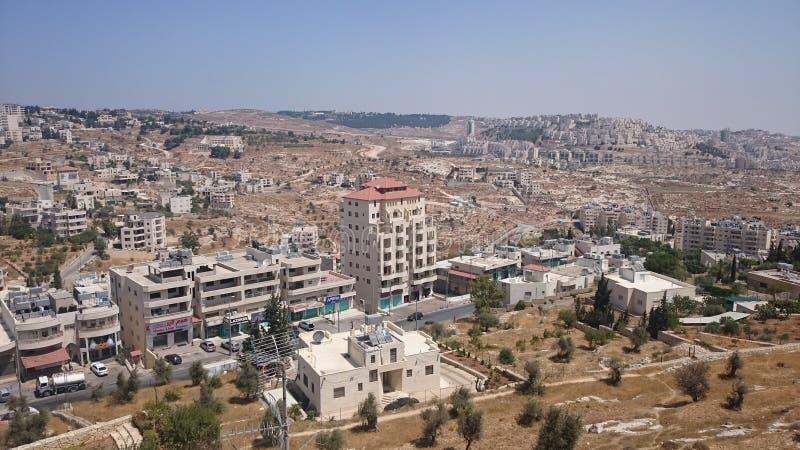 Nowożytna Jerozolimska panorama Architektura mieszkanie i budynki biurowi w świętym ciity Jerozolima fotografia royalty free