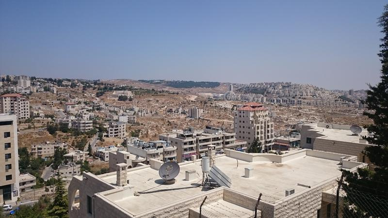 Nowożytna Jerozolimska panorama Architektura mieszkanie i budynki biurowi w świętym ciity Jerozolima obraz royalty free