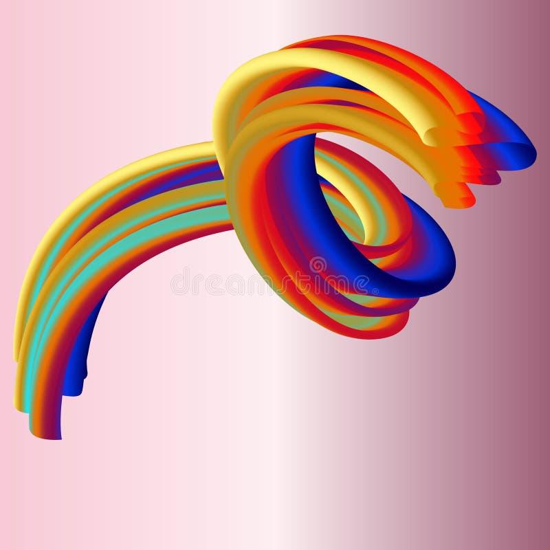 Nowożytna kolorowa przepływ fala Wektorowy Ciekły kształt Sztuka projekt dla twój projekta ilustracja wektor