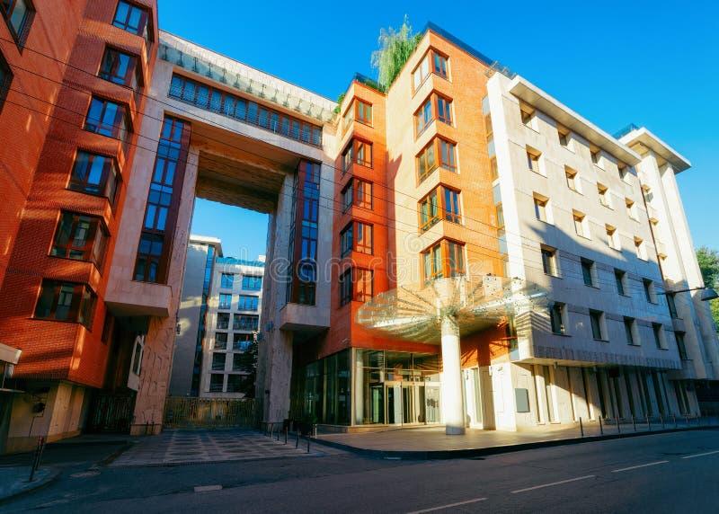 Nowożytnego mieszkania mieszkaniowy dom w Moskwa zdjęcie stock
