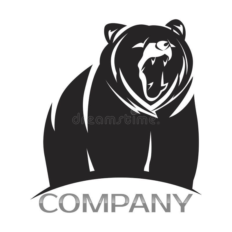 Nowożytny niedźwiadkowy logo również zwrócić corel ilustracji wektora royalty ilustracja