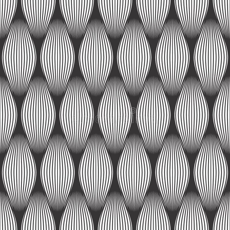 Nowożytny prosty geometryczny wektorowy bezszwowy wzór ilustracji