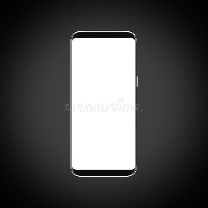 Nowożytny Smartphone z białym wielkim pustym ekranem zdjęcia stock