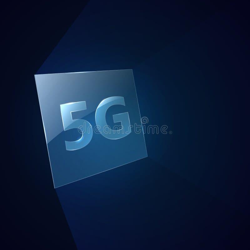 Nowożytny sygnałowy przekaz technologii standard 5G ilustracji