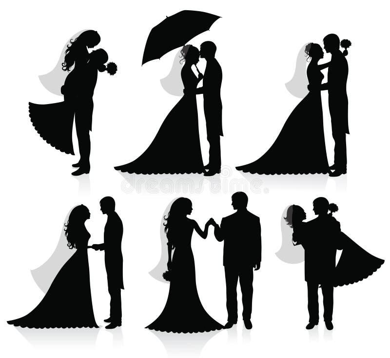 nowożeńcy royalty ilustracja
