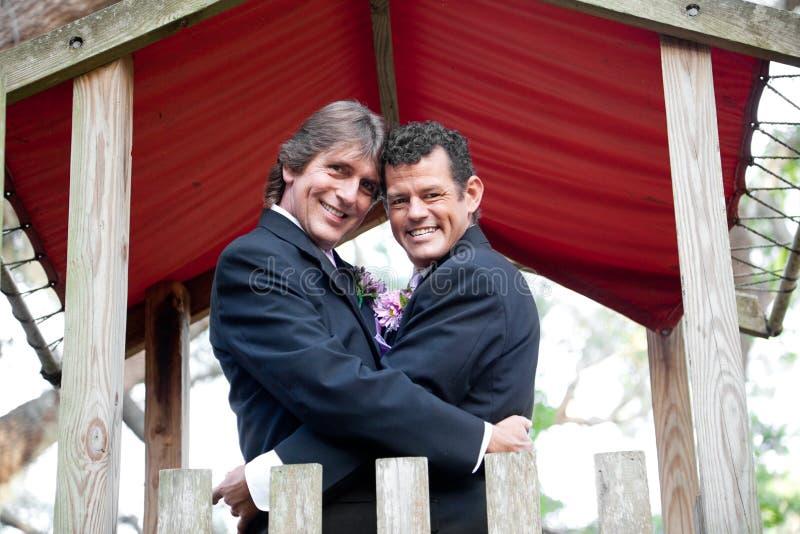 Nowożeńcy Pod baldachimem obrazy royalty free