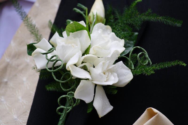 nowożena buttonhole obraz stock