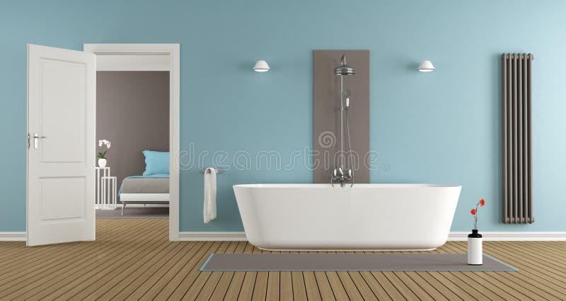 Nowożytna łazienka z wanną i prysznic ilustracji