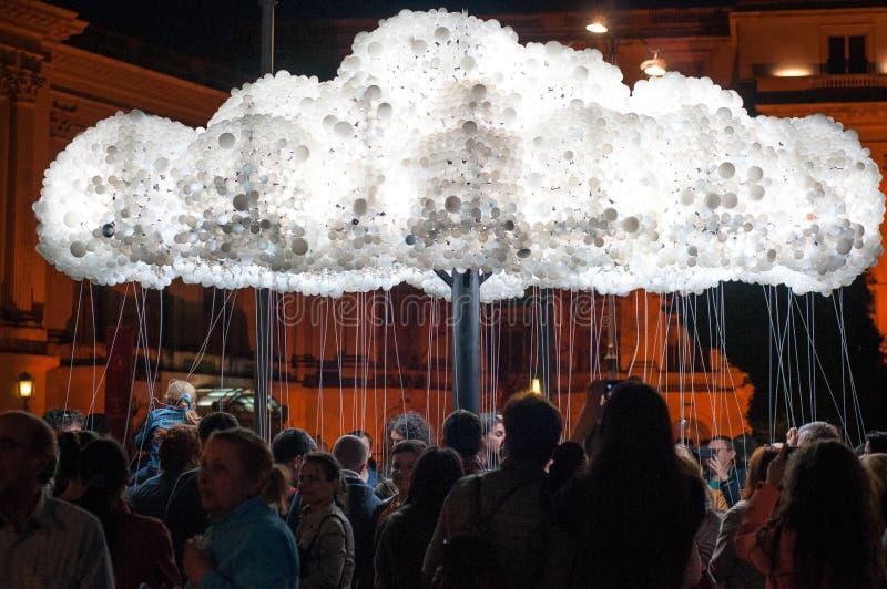 Nowożytna żarówki chmura zdjęcia stock