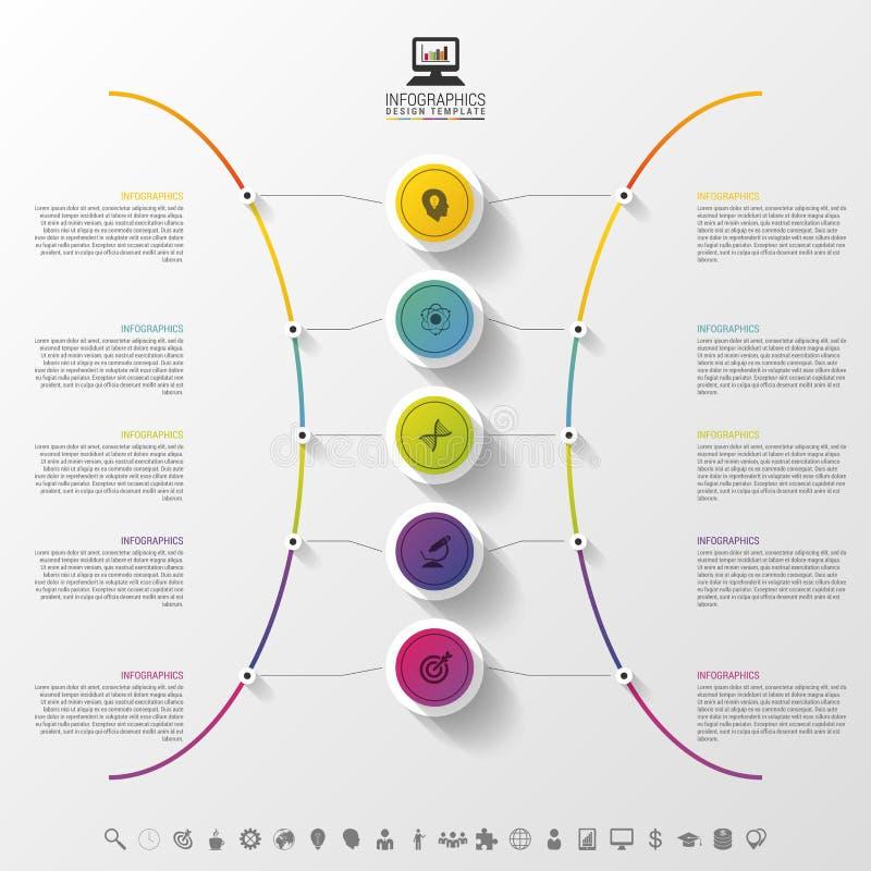 Nowożytna abstrakcjonistyczna okrąg etykietka Infographic projekta szablon również zwrócić corel ilustracji wektora ilustracji