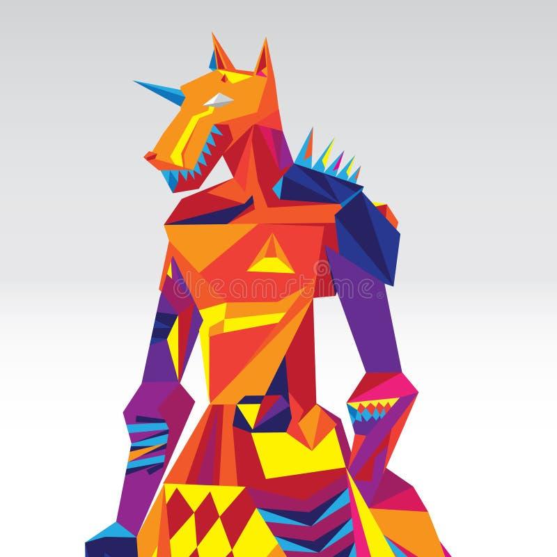 Nowożytna Anubis wektoru ilustracja ilustracji
