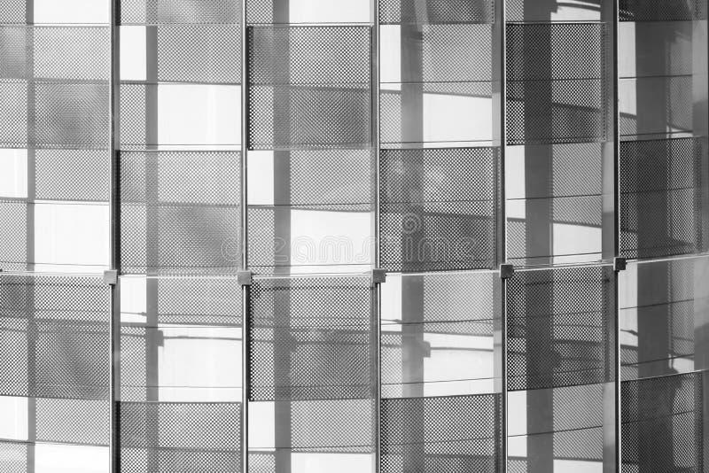 Nowożytna architektura komponuje szklana i stalowa struktura Bl obraz royalty free
