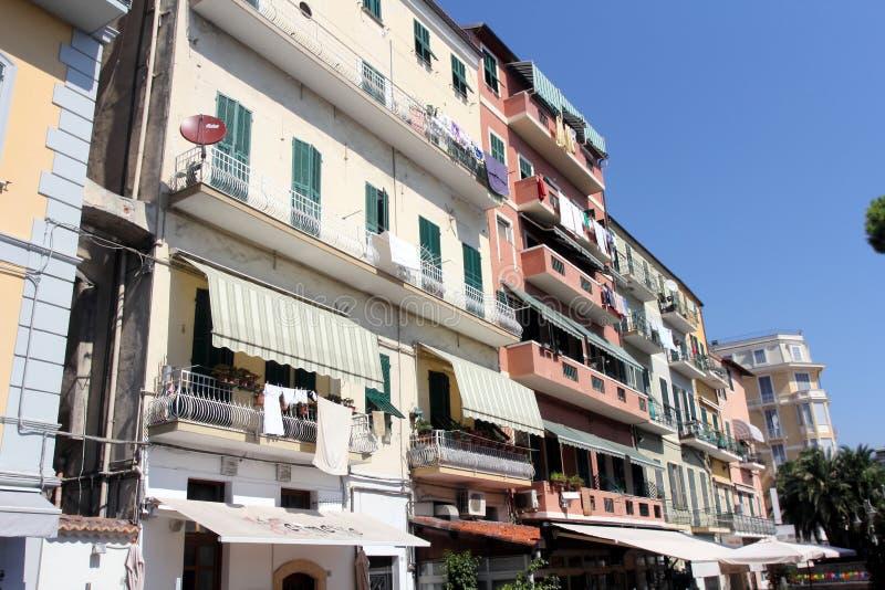 Nowożytna architektura San Remo, Włochy zdjęcie stock