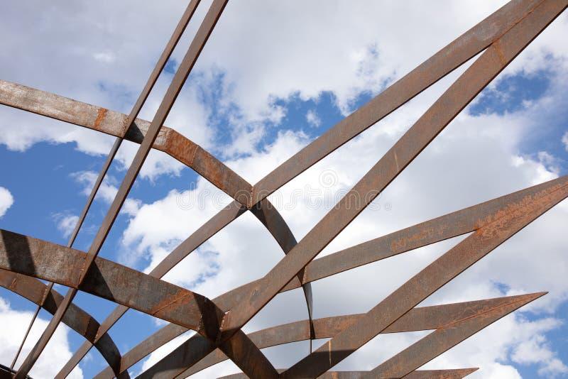 Nowożytna architektury budowa w krajobrazowym parku w Moskwa obrazy stock