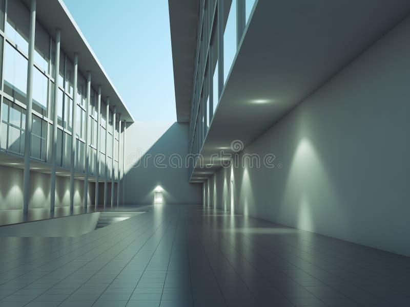 nowożytna architektury powierzchowność ilustracja wektor
