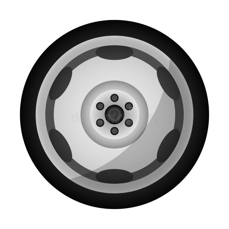 Nowożytna auto obręcz ikona ilustracja wektor