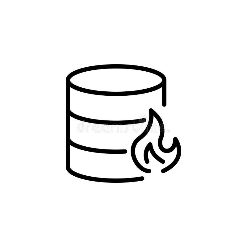 Nowożytna bazy danych linii ikona ilustracja wektor