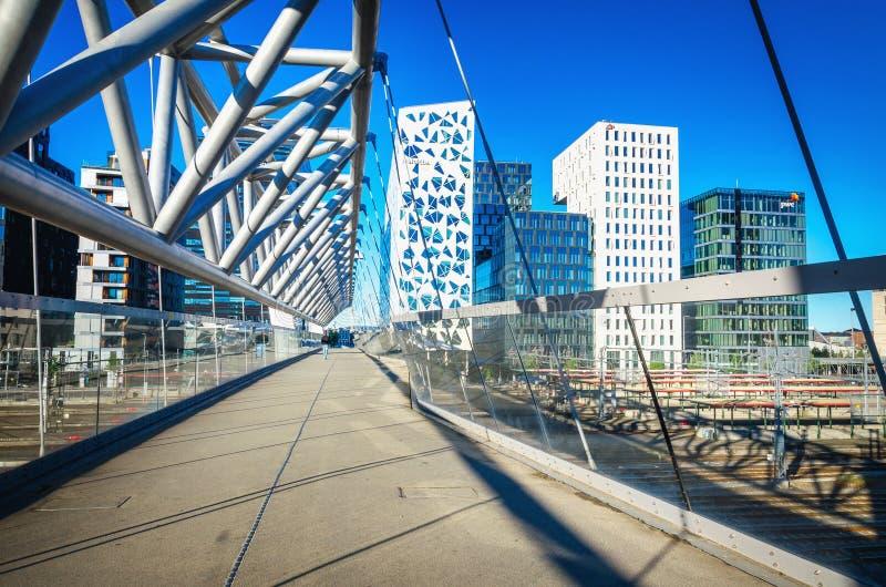 Nowożytna biznesowa architektura w centrum Oslo, Norwegia fotografia royalty free