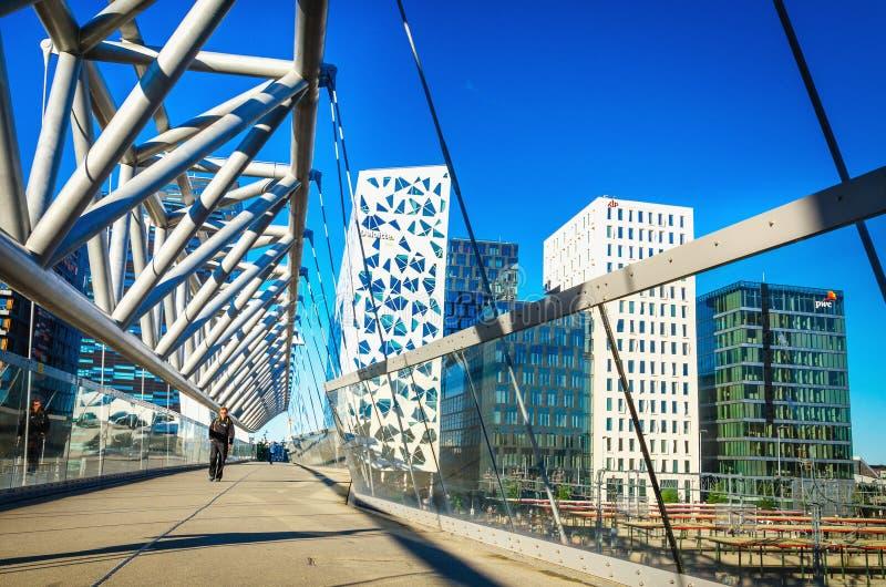 Nowożytna biznesowa architektura w Oslo, Norwegia fotografia stock