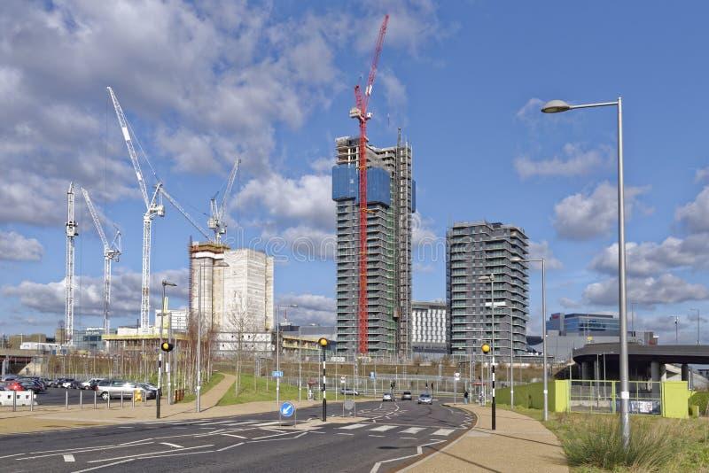 Nowożytna budowa, stratford, London, uk obraz royalty free