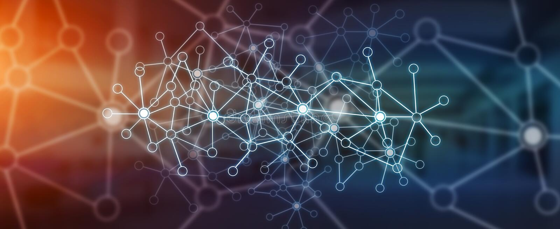 Nowożytna cyfrowa sieć przesyłania danych ilustracji