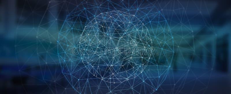 Nowożytna cyfrowa sieć przesyłania danych ilustracja wektor