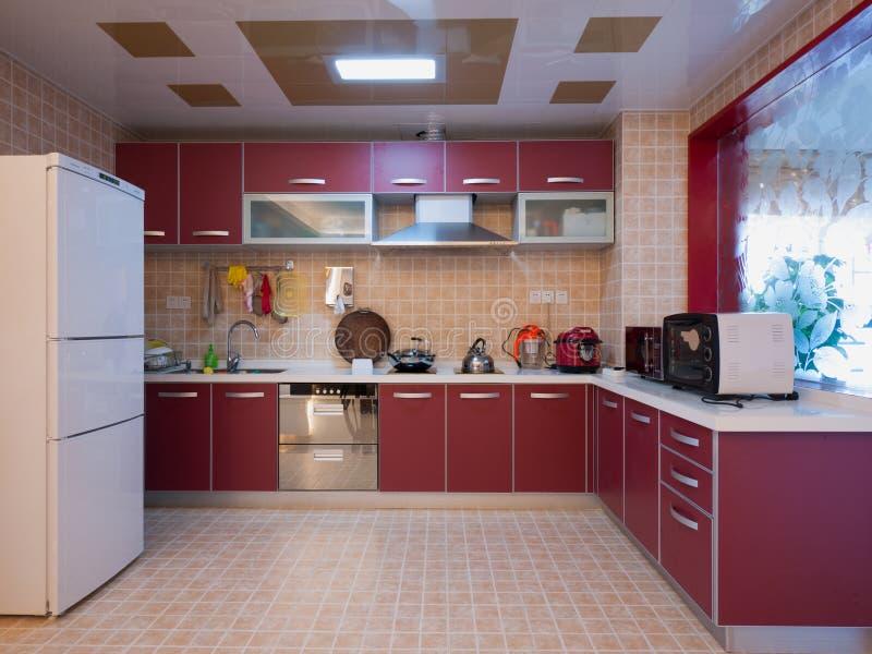 Nowożytna domowa kuchnia obrazy royalty free