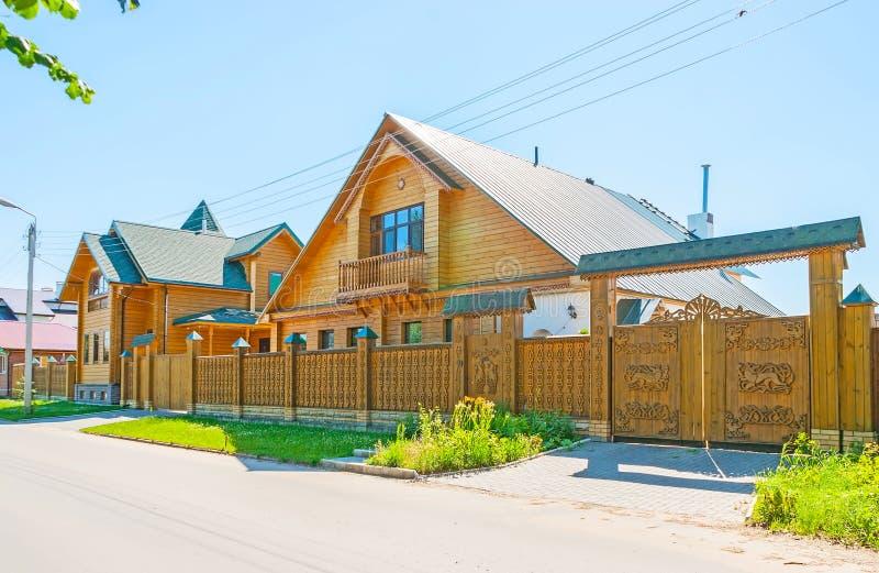 Nowożytna drewniana architektura w Suzdal fotografia stock
