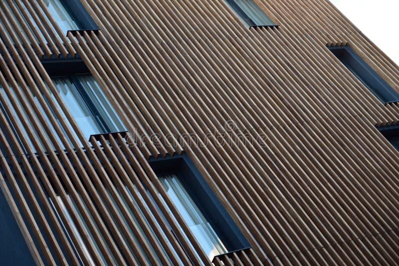 Nowożytna drewniana fasada zdjęcie royalty free