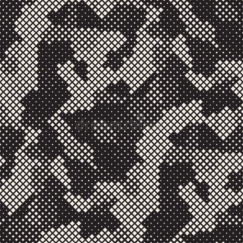 Nowożytna Elegancka Halftone tekstura Niekończący się Abstrakcjonistyczny tło Z Przypadkowymi Wielkościowymi kwadratami Wektorowy zdjęcia stock