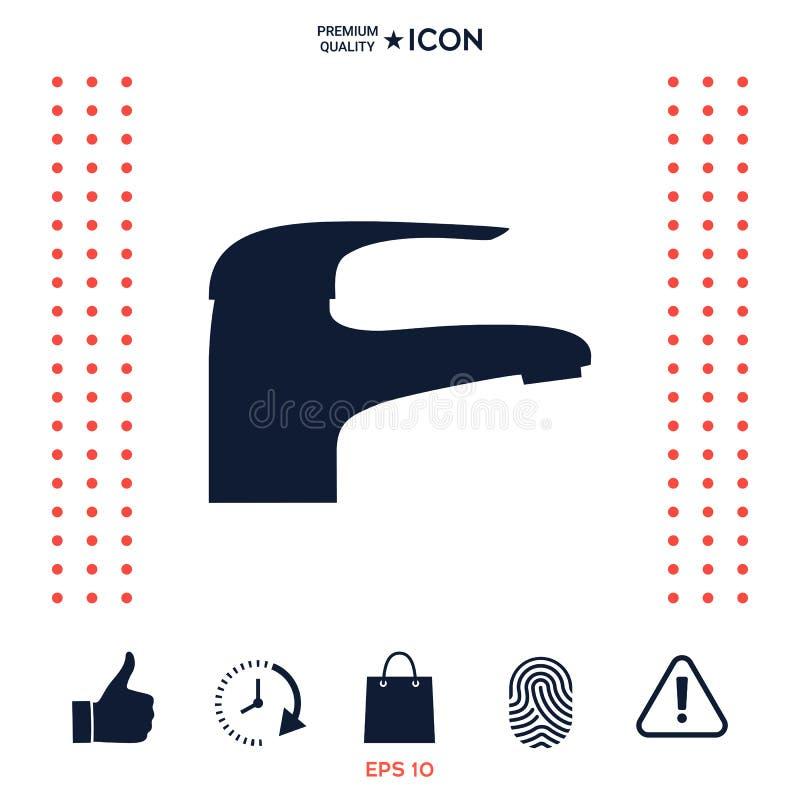 Nowożytna Faucet ikona ilustracja wektor