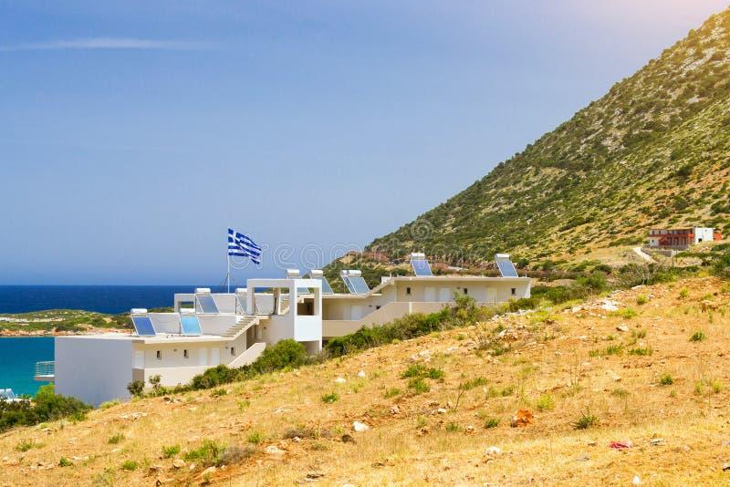 Nowożytna Grecka architektura, wioska Bali, Rethymno, Crete, Grecja fotografia royalty free