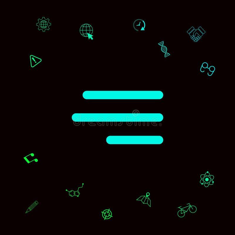 Nowożytna hamburgeru menu ikona dla mobilnych apps i stron internetowych Graficzni elementy dla twój designt royalty ilustracja