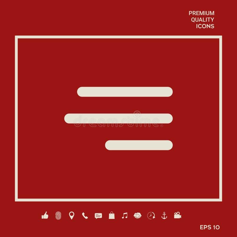 Nowożytna hamburgeru menu ikona dla mobilnych apps i stron internetowych Graficzni elementy dla twój projekta ilustracja wektor
