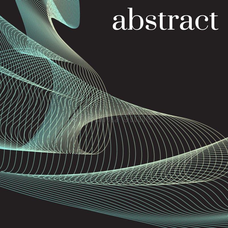 Nowożytna holograficzna abstrakt pokrywa Neonowi nowi pomarańczowi kreskowi kształty z kolorowym skręcaniem Dynamiczna spływowa w ilustracji
