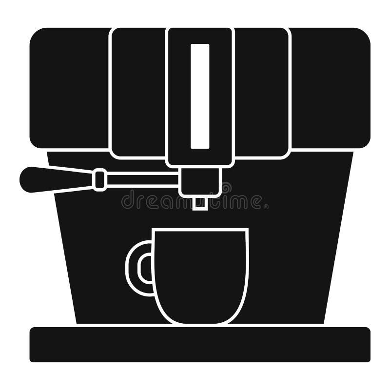 Nowożytna kawowa maszynowa ikona, prosty styl royalty ilustracja
