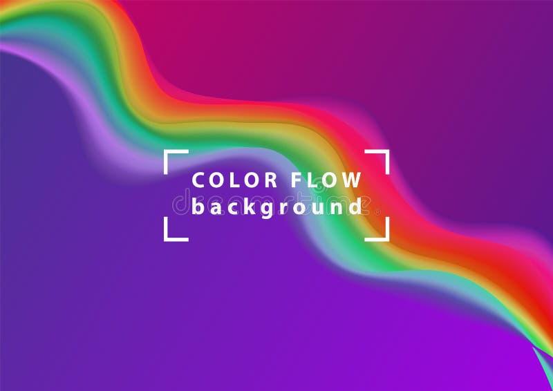 Nowożytna kolorowa przepływ fala Wektorowy Ciekły kształt Sztuka projekt dla twój projekta royalty ilustracja