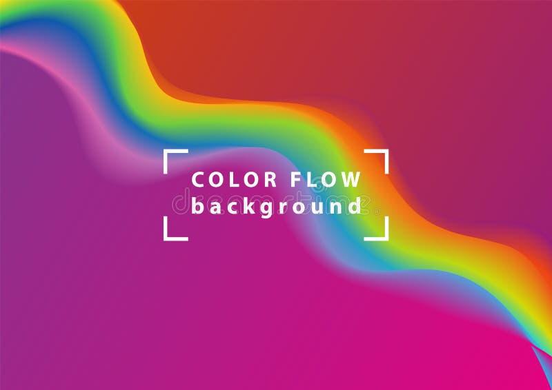 Nowożytna kolorowa przepływ fala Wektorowy Ciekły kształt Sztuka projekt dla twój projekta ilustracji