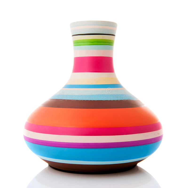 Nowożytna kolorowa waza obrazy royalty free