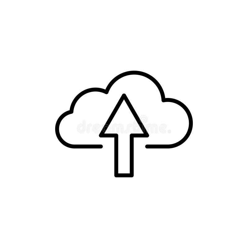 Nowożytna komputer chmury linii ikona ilustracja wektor
