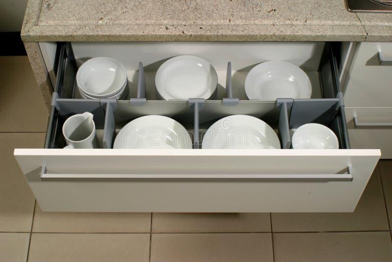 nowożytna kreślarz kuchnia zdjęcia stock