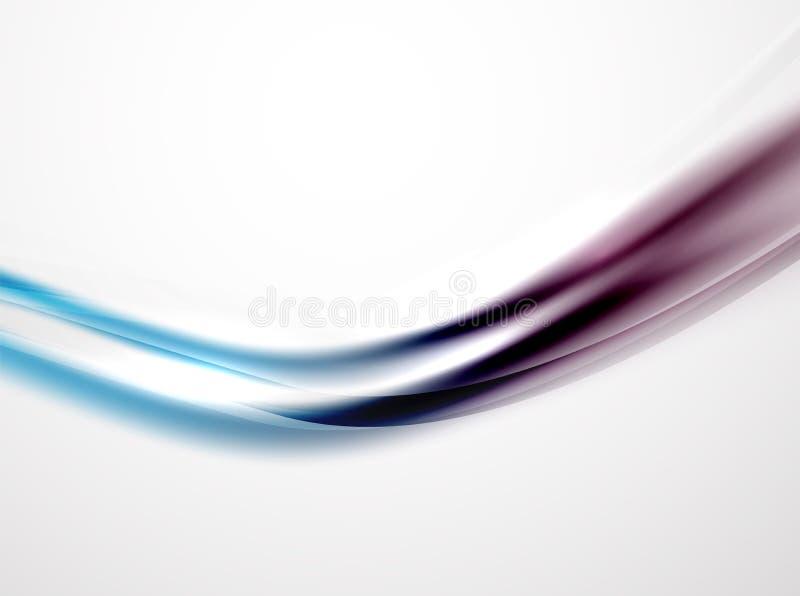 Nowożytna krzywa paskuje szablon ilustracji
