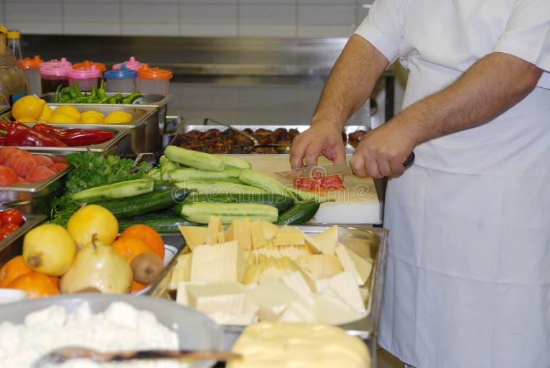 Nowożytna kuchnia w restauracyjny ` obraz royalty free