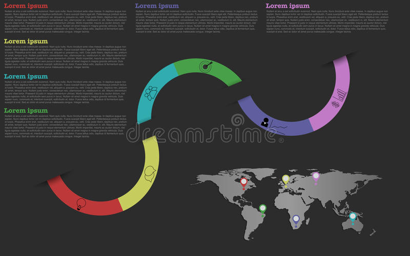 Nowożytna linia czasu Infographic ilustracja wektor